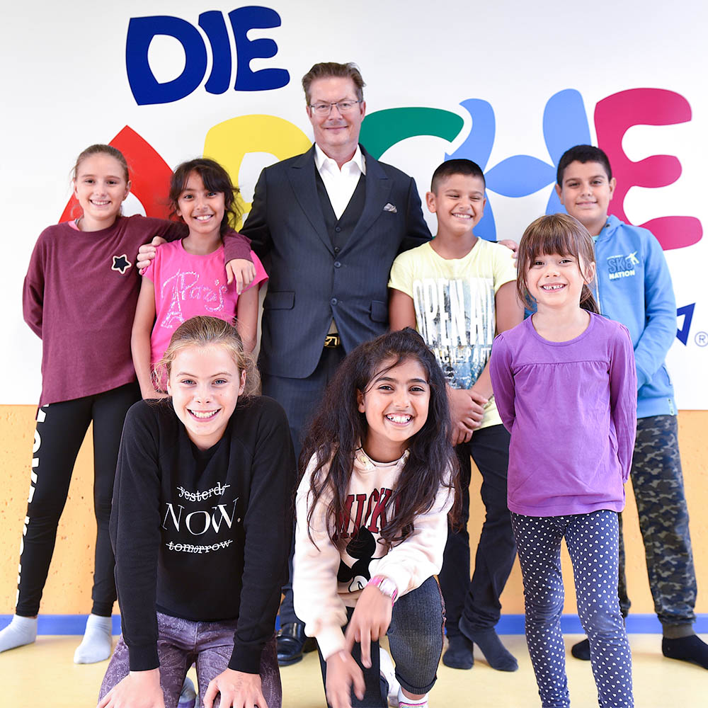 Die Arche - Entrepreneur Rainer Schorr donation