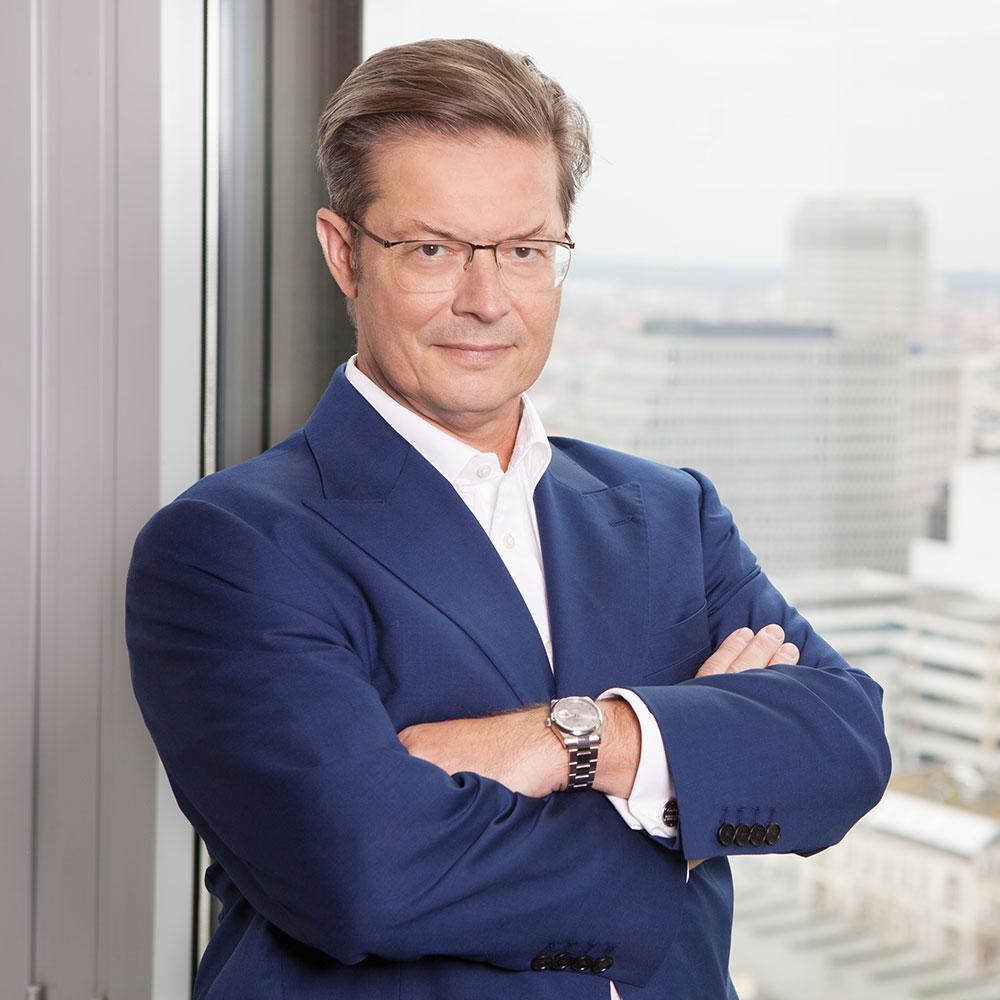Property investor Rainer Schorr in his office