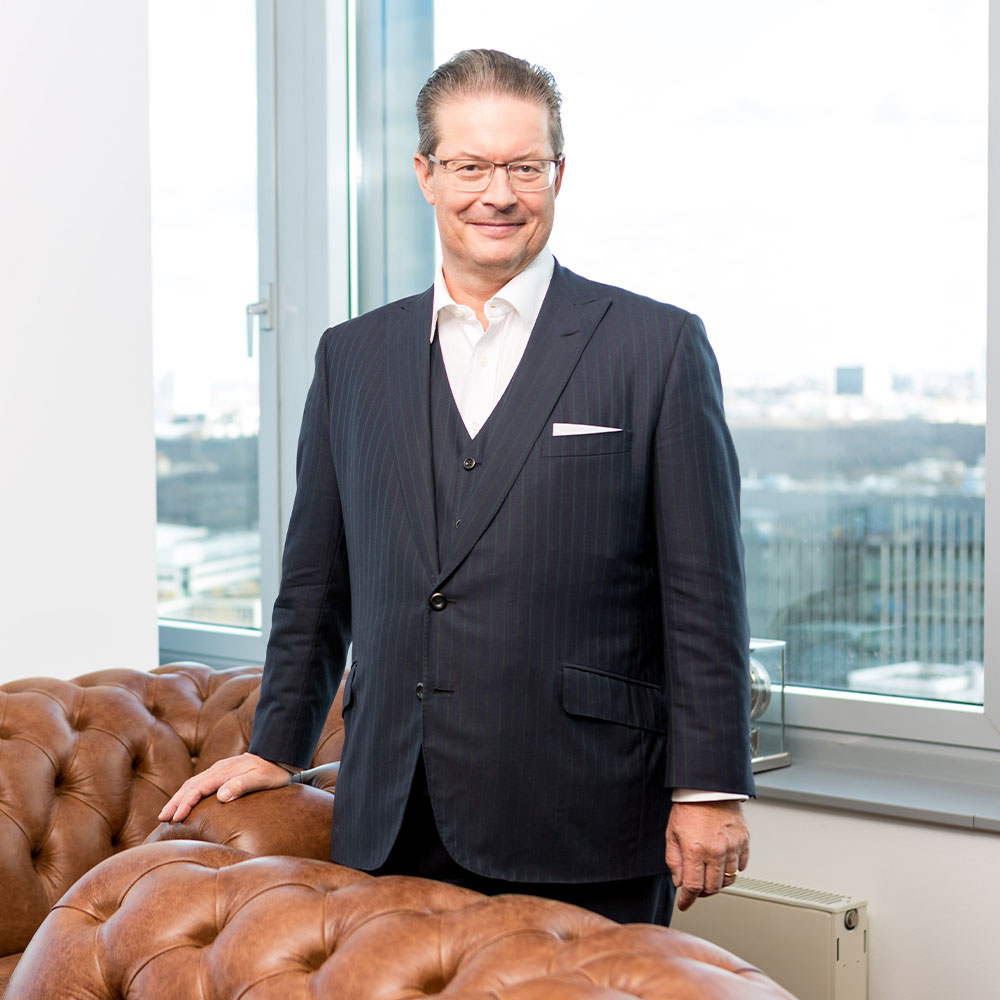 Entrepreneur Rainer Schorr in his office