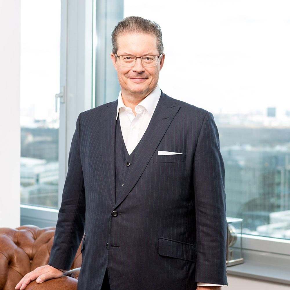 Rainer Schorr in the office